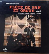 Vinyle 33T Flûte de Pan et orgue, Gheorghe Zamfir, Marcel Cellier