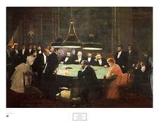 Jean Beraud The Game Room Poster Kunstdruck Bild 54x71cm - Kostenloser Versand