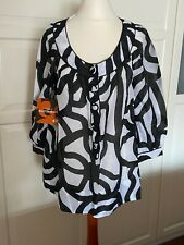 Marimekko H&M A Tribute To Marimekko Bluse blouse silk Tunika EUR 38 size US 8