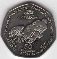 More details for 2015 50p coin iom isle of man tt legends mcguinness dunlop aa fifty pence