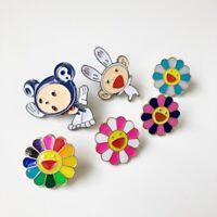 6 Styles TAKASHI MURAKAMI Kaikai Kiki Pin Badge Mr DOB Complexcon Brooch Gifts