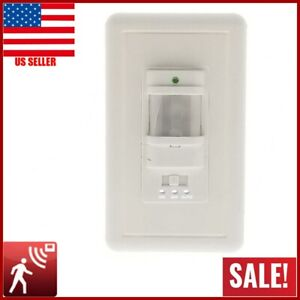 AC 110V PIR Motion Sensor Light Switch Detector Infrared Wall Occupancy White