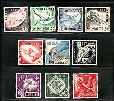 Sc295-300, C36-39- Monaco Helsinki Olympics - 1952 - MH/MNH - superfleas - cv71