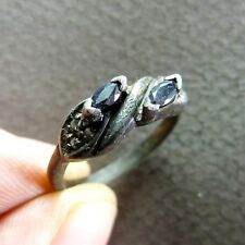 Vintage French Silver Ring with Stones ca.1910-1920 size 7 3/4