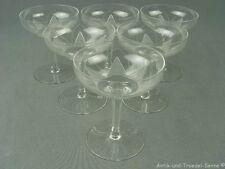 ICHENDORF Lotusblume 6 schöne alte Gläser Cocktailschalen 60er Jahre