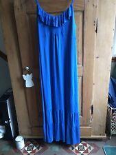 Stunning Monsoon Maxi Dress Size 20 In Cobalt Blue