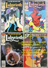 Labyrinth Set 1-3 David Bowie Jim Henson Movie EXCELLENT NEWSSTAND Copies +BONUS