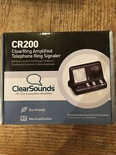 Clear Sounds ClearRing Amplified Telephone Ring Signaler CR200 Flashing Alert
