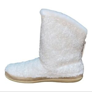 Toms Women's Inez Plush Cream Faux-Shearling Bootie Slippers Size 10M New