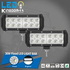 2x 7inch 72w Led Work Light Bars Flood Spot Combo Fog Lamp Offroad Driving Truck