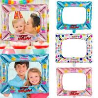 3pcs Kid Girl Birthday Party Selfie Inflatable Foil Photo Frame Photo Booth Prop