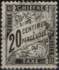 FRANCE TAXE DUVAL 20c NOIR N° 17 OBLITERATION LEGERE COTE 150 €