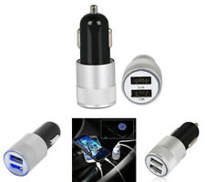2 in 1 Mini Dual USB Port LED 12V In Car Charger For Apple iPhone 3 4 4s 5 5C 5S
