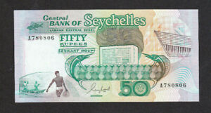 50 RUPEES UNC BANKNOTE FROM SEYCHELLES 1989 PICK-34