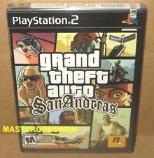 PS2 Grand Theft Auto: San Andreas 1st Print Black Label New Sealed (Hot Coffee)