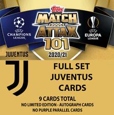 Match Attax 101 20/21 - Full Juventus Card Set All 9 Cards - Pre-Order