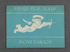 IMPERIAL AIRWAYS WINGS FOR YOUR HONEYMOON VINTAGE AIRLINE BROCHURE