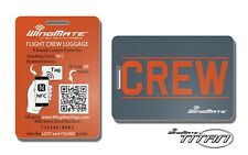 NFC Passive Tracking Luggage Tag by WingMate! Airline Flight Crew Tag. COPPER