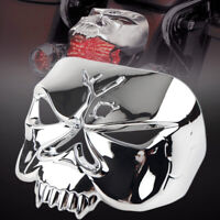 Chrome Skull Tail Light Cover Guard for Harley Sportster XL1200 883 Dyna Road