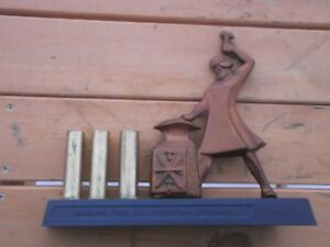 Blacksmith Hammerer  Remembrance  Souvenir Desk tidy Vintage USSR Metal