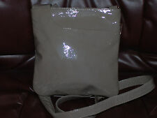New Listingused Radley Taupe Patent Classic Leather Crossbody Shoulder Bag
