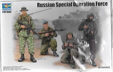 Trumpeter Russian Special Operation Force, 4 Figures w/ Camo Sheet 1/35 0437  ST