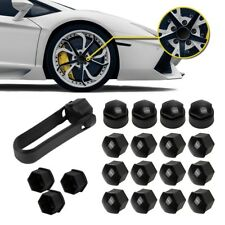 For VW Audi Skoda Seat Set Lug Center Nut Covers Caps & Wheel Locking Bolt Cover