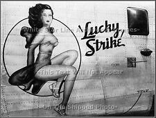 Photo: Nose Art: Lucky Strike: Clear Original View - B-24 Bomber, WWII