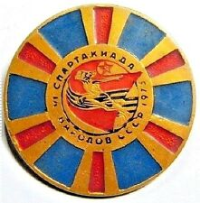"""Original USSR  Pin Badge """"Sports Contest of the USSR Nations 1975"""""""