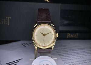 Piaget 1950s 18k gold dress watch 36mm Ref 11690 Felsa 1560 Auto Piaget serviced