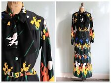 Vintage Lanvin Iris Print Maxi Dress medium