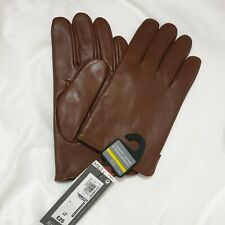 M&S Mens Genuine Leather Gloves Tan Thermowarmth Size: LARGE