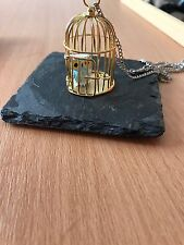 Harry Potter Hedwig Owl in a Cage Necklace 32""