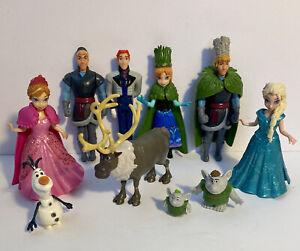 Mini Frozen Wedding Dolls 3 Magiclip Disney Princess Anna Elsa Hans Sven Olaf