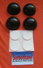 4 x Sorbothane 40mm. Diameter Isolation Feet/Spheres + 4 x Self Adhesive Pads