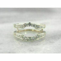 0.25 Ct Round Cut Diamond Engagement Enhancer Wrap Band Ring 14K White Gold Over