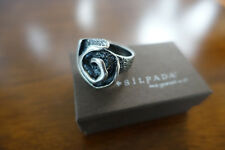"Silpada Sterling Silver ""Oxidized Rose Swirl"" Ring Size 9 R1927"