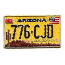 Arizona Autokennzeichen USA AZ US Bundesstaaten Patch Aufnäher Aufbügler 0036