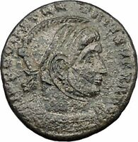 Constantine I The Great 319AD Ancient Roman Coin Victories w shield i32479