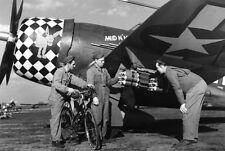 WWII B&W Photo P-47 Thunderbolt Eigth AF  WW2 /5072