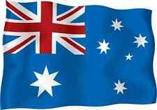 "Australia Flag Car Bumper Sticker 5"" x 4"""