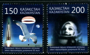 2013.Kazakhstan.50th Anniv.of the 1st Woman in SPACE.Tereshkova.Sc.699-700. MNH