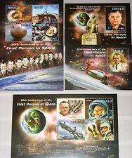 TUVALU 2011 1744-51 Block 172-73 1st Man in Space Gagarin Weltraum Raumfahrt MNH