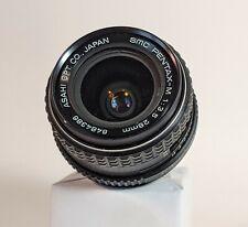 PENTAX-M K SMC 28MM f/3.5 Lens Manual Focus AF Wide Angle FAST SHIP