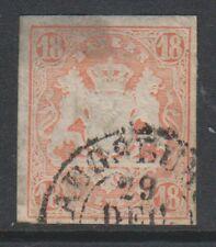 Germany (Bavaria) - 1867/9, 18Kr Pale Red - 4 Margins - F/U - SG 50