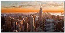 Quadro Inigocia 'Il Tramonto di New York' Stampa su Tela Canvas