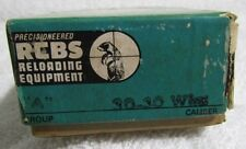 Vintage Precisioneered Rcbs Reloading Equipment Dies 30-30 Win
