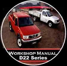 NISSAN NAVARA D22 AUSTRALIAN WORKSHOP MANUAL CD 1997-2008 TD25-27 YD25 ZD30 QD32