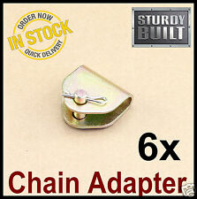 6x Chain Adapter G70 Tow Chain Ratchet Tie Down Straps FlatBed Truck Car Axle 2""
