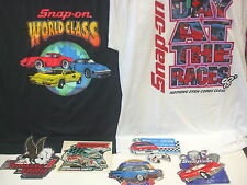 Vintage 1980's & 90's SNAP ON Tools T Shirts and Stickers Lot - Very Nice Cond.